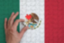 Mexico flag  is depicted on a puzzle, wh