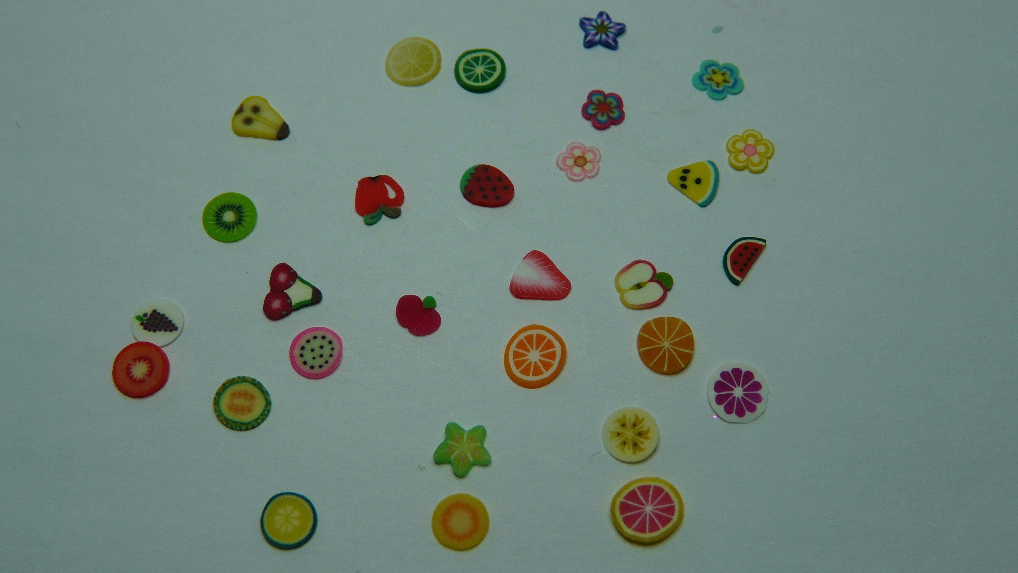 Citron, lime, fleurs, melon d'eau, melon miel, fraise entière ...: londonga.wix.com/proessionbeaute#!déco-pâte-fimo/zoom/c1d9s...