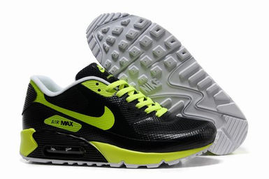 Mens Nike Air Max 90 Hyp Prm Trainers Black Green.jpg