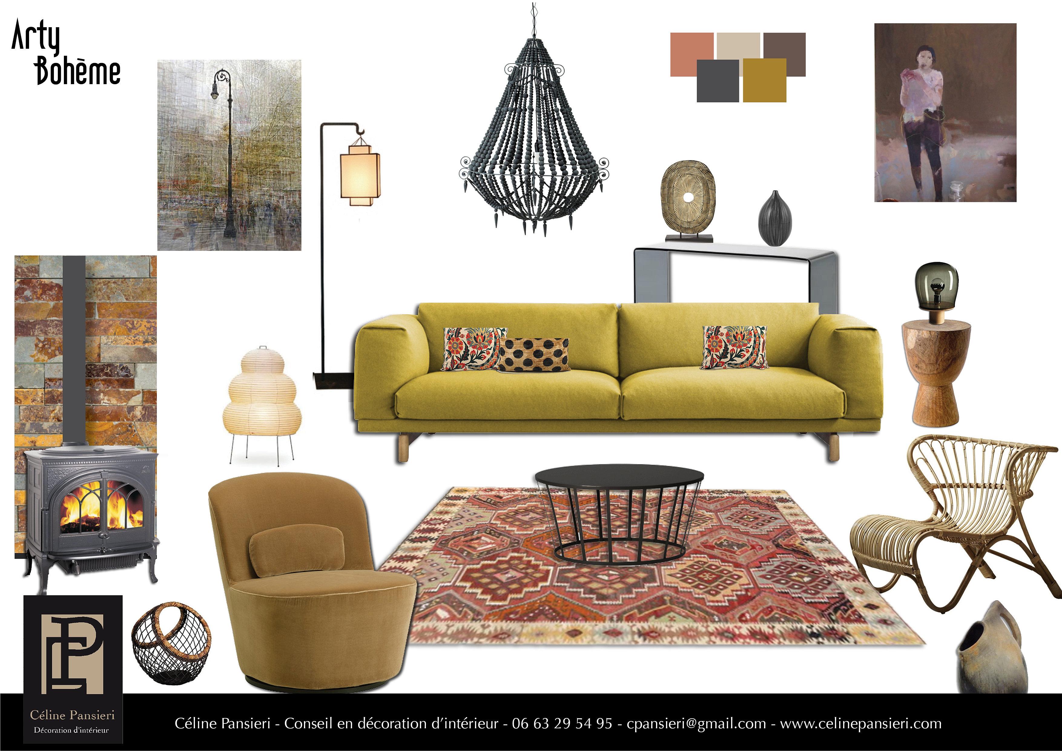 ambiance arty boheme. Black Bedroom Furniture Sets. Home Design Ideas
