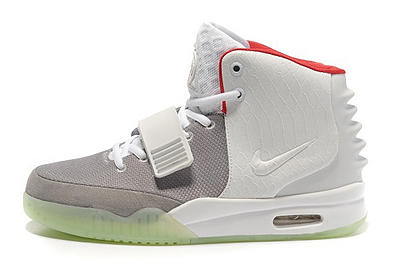 Cheap Nike Air Yeezy II Women Shoes White Gray