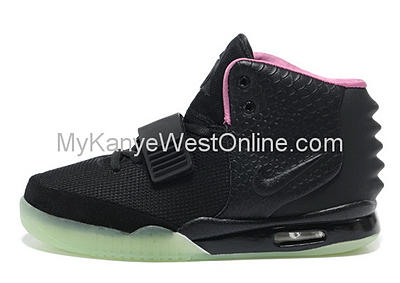 Cheap Nike Air Yeezy II Men Shoes Black Pink