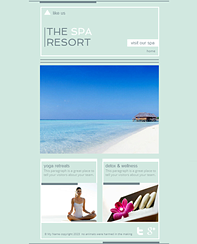 Spa Resort FB Template - This clean website design let's you show off your hotel, spa or any other business in style. Adjust the colors and fonts to match your brand, plug in your text and you're done.