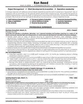Resume writing samples resume sample from long island resume writer ron reed yelopaper Gallery