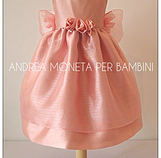 168 Vestido Rosa Viejo Bebe Niña Pink Dress Baby or Girl Andrea Moneta Per Bambi