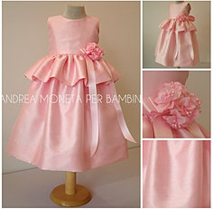 169 detalle vestido rosado niña pink dress for girl andrea moneta per bambini.jp