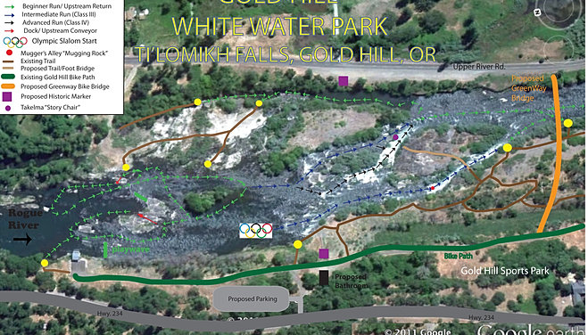 Whitewater Park Map (first concept)