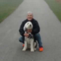 Founder Mike with Mascot Sadie.jpg