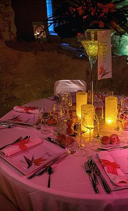 Location d co et mat riel de r ception accessoires lumineux for Table 85 menu