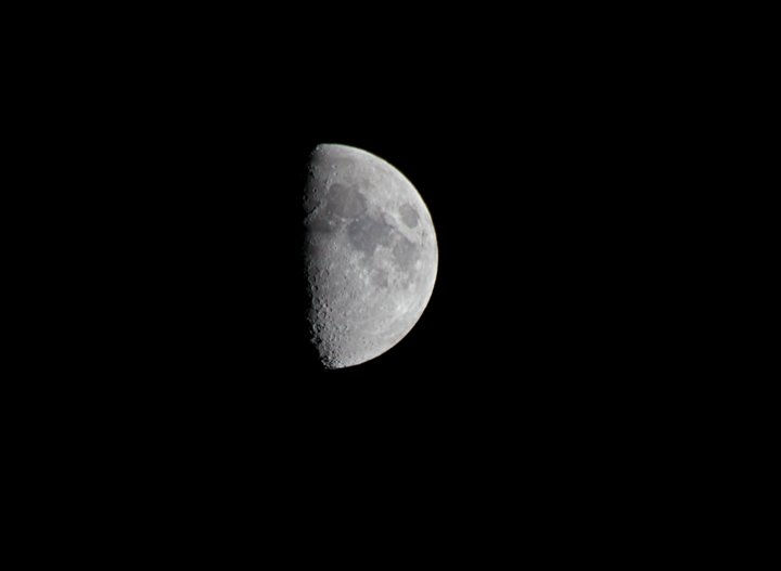 600mm shot of half moon