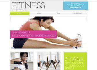 Fitness-Studio Template - Eine motivierenden Website-Vorlage mit kräftigen Farben und modernem Design. Passen Sie den Text an und fügen Sie eigene Fotos hinzu, um Ihre Räumlichkeiten, Kurse und Preise zu bewerben. Jetzt anfangen und Ihr Sport-Center oder Fitness-Studio online bringen!