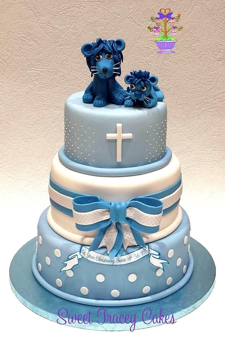 Blue  Tier Birthday Cakes