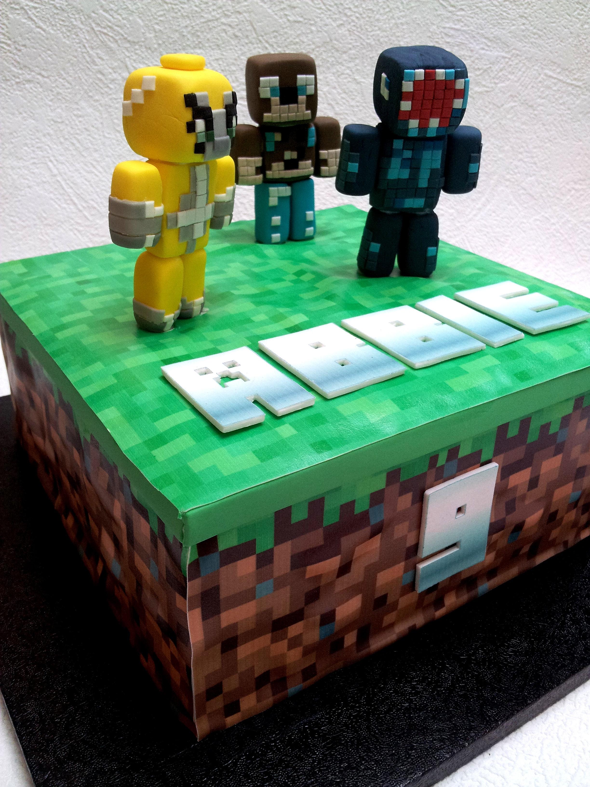 D Minecraft Birthday Cake