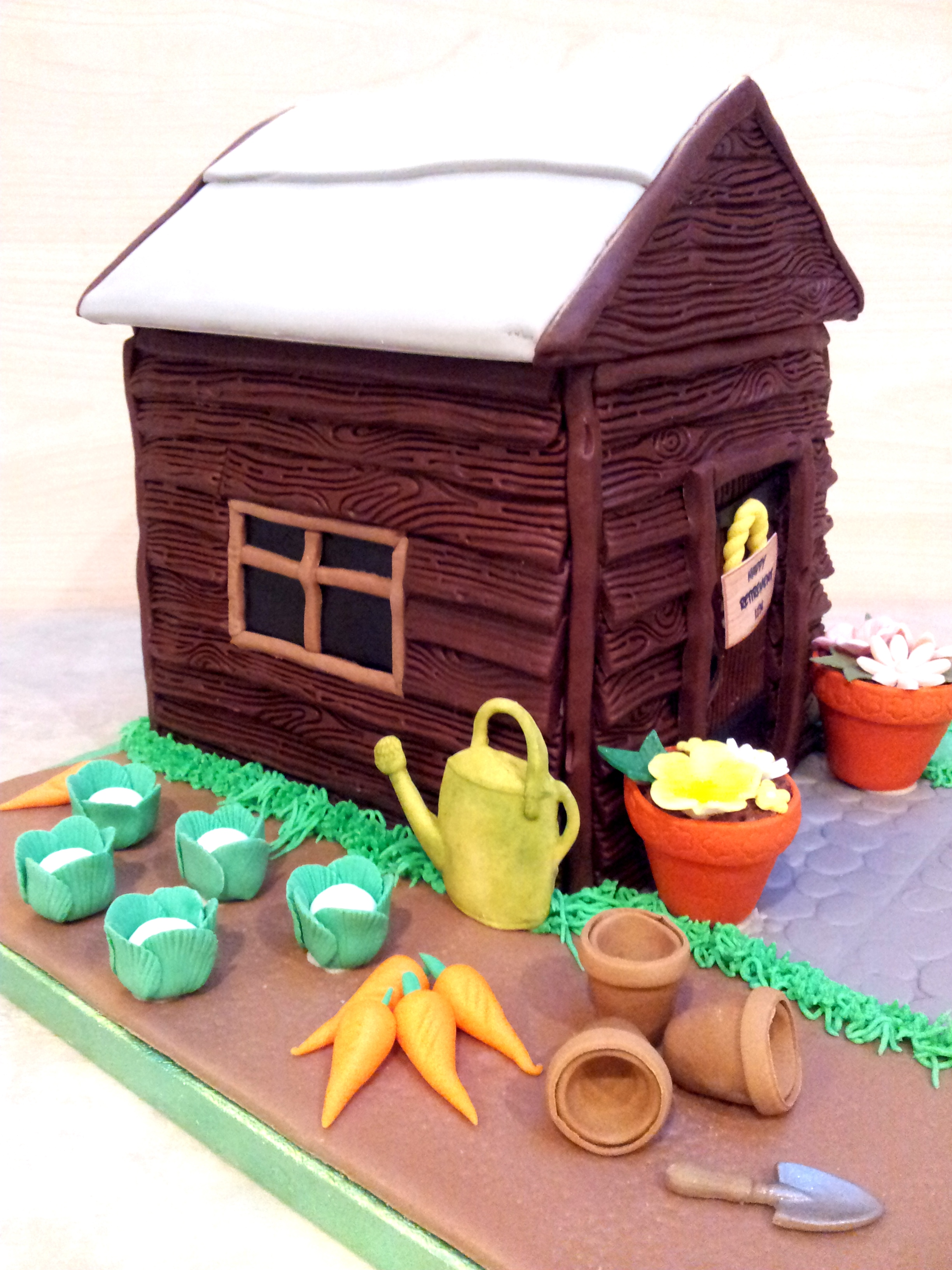 Sweet Tracey Cakes Retirement Garden Shed Cake