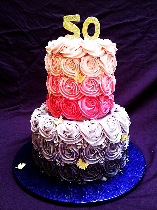 Ombre Pink And Purple Cake