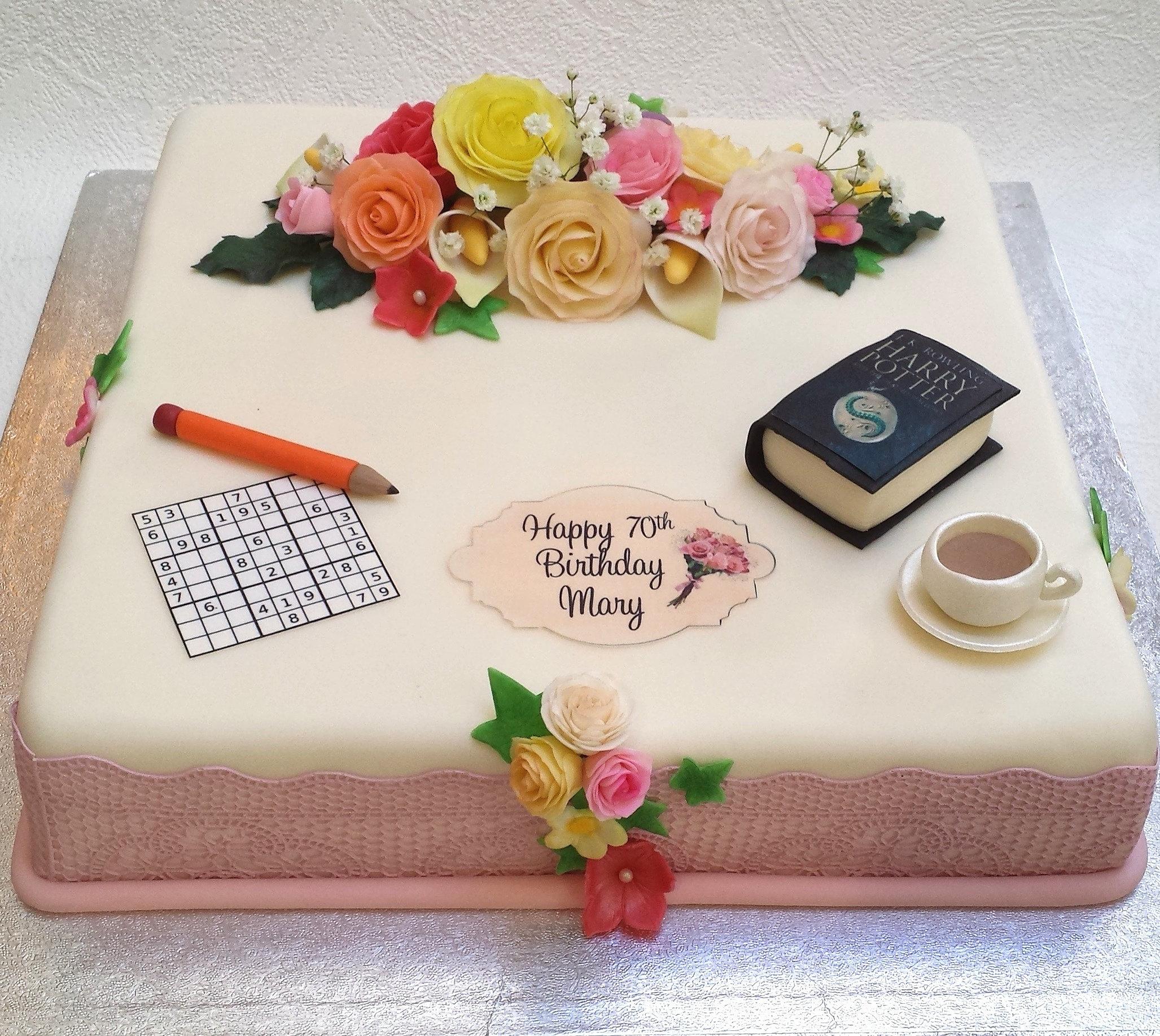 Sweet Tracey Cakes 70th birthday sudoku cake
