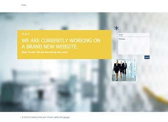 Website Coming Soon Template - A professional and easy to customize landing page which lets your customers know that your website is coming soon. With a simple messaging form, your clients can keep in touch and inform you of any important messages. Once your website is ready to launch, let your clients know and watch your business soar to success.