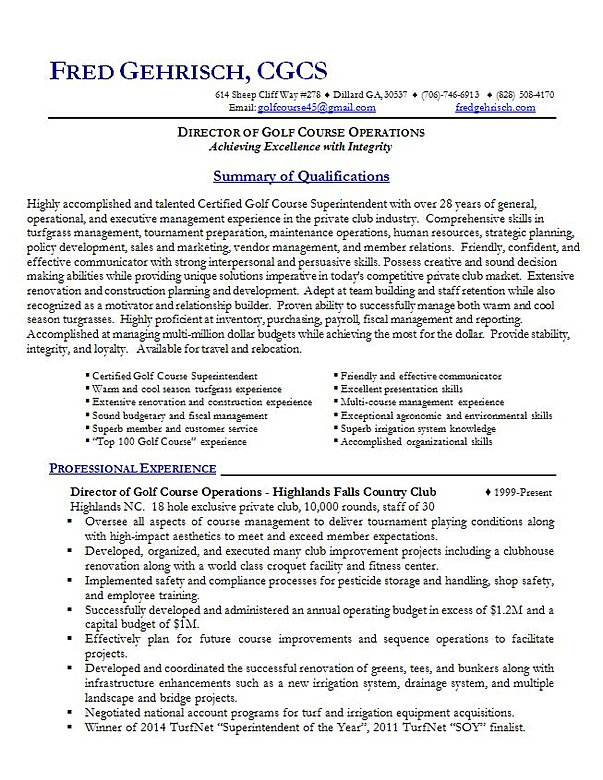 assistant golf course superintendent cover letter November 10 th, 2011 attn: peter bondy course superintendent furry creek golf and country club i have attached my resume for the application of your assistant golf.