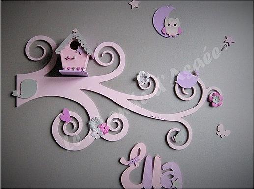 Plaque de porte enfant pr nom bois d coration murale for Decoration porte prenom
