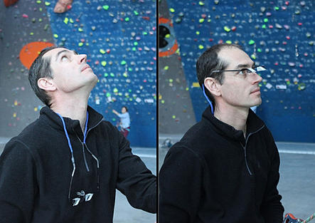 With these climbing glasses, the climbers don't need to raise their heads, so that their neck pain will be reduced by Y&Y Belay Glasses