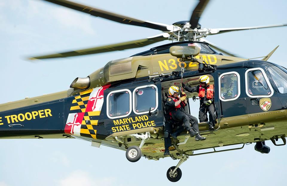 Image result for maryland state police aviation hoist