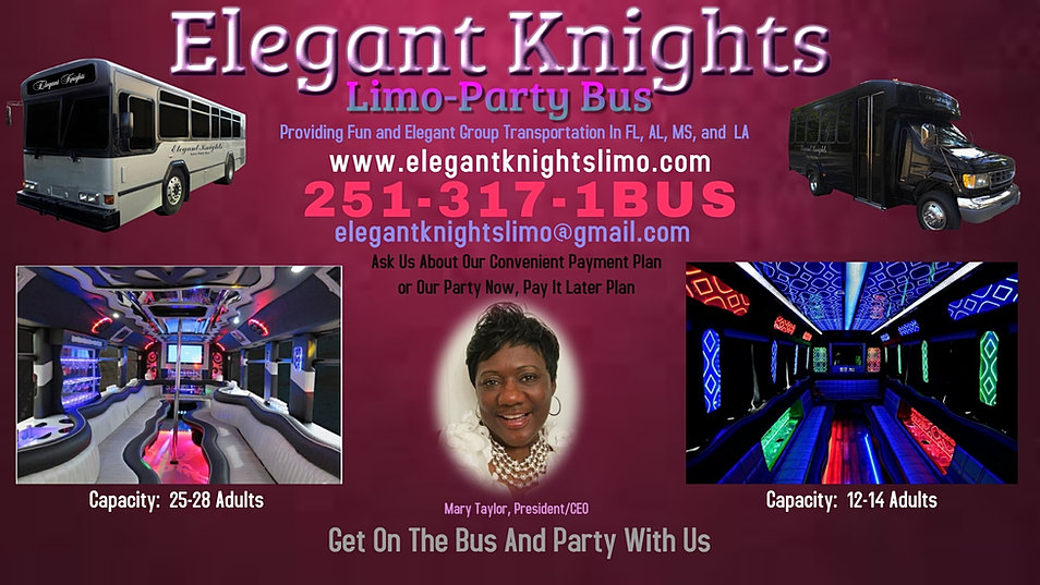 Party bus rental mobile pensacola biloxi hattiesburg new orleans flyerbusiness card colourmoves