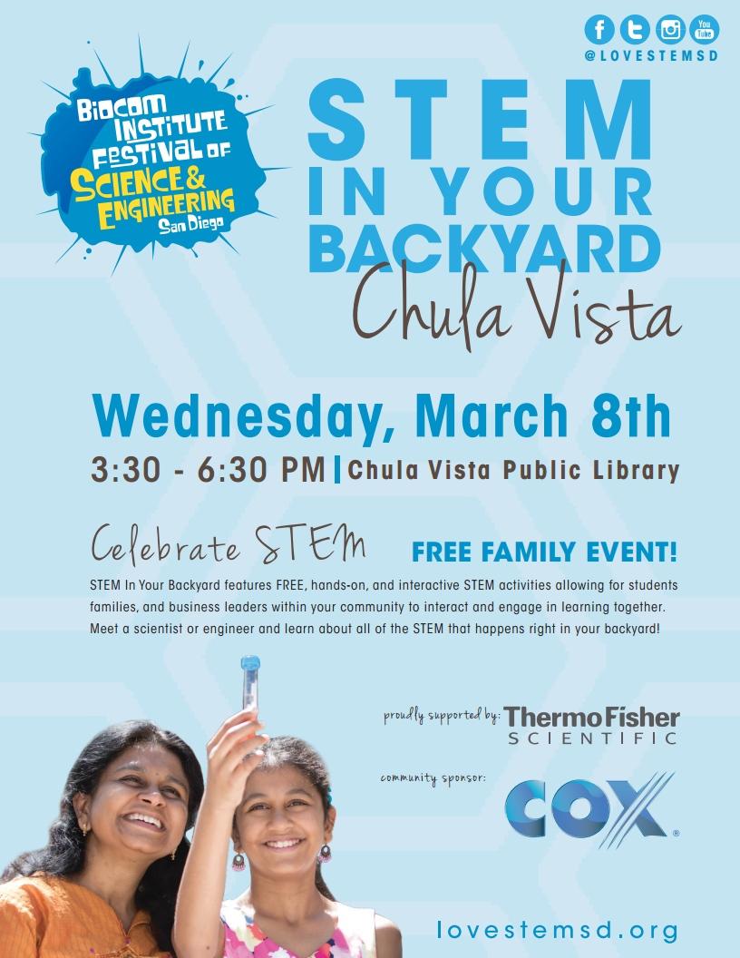 stem in your backyard chula vista march 8th climatealliance