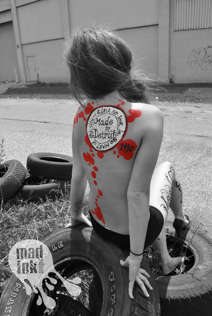 Mad Ink Designs Detroit Body Paint Designer