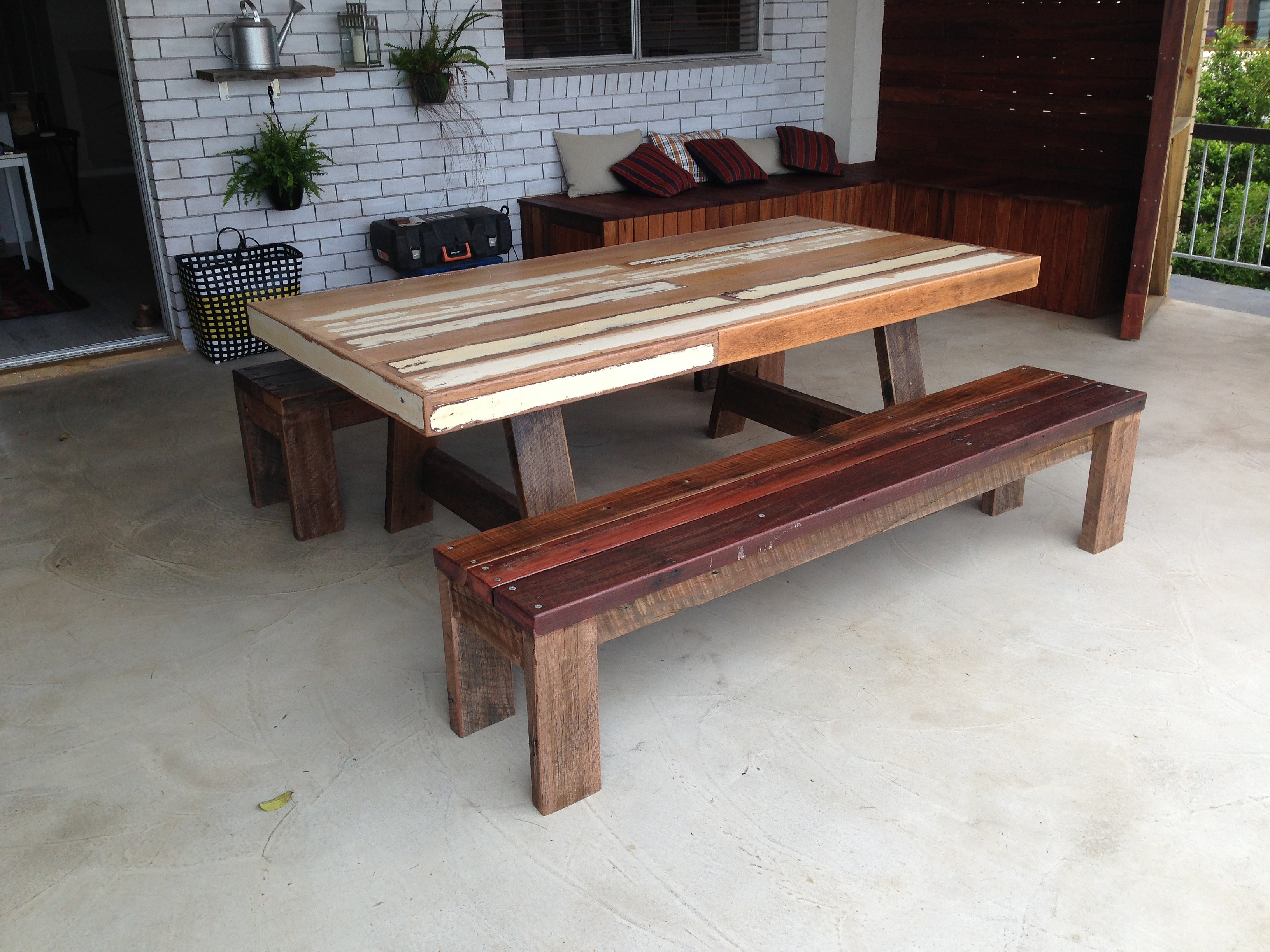 recycled timber furniture gold coast wooden outdoor table