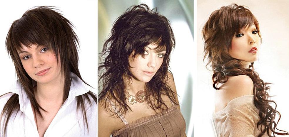 Фото стрижки рваные на длинные волосы