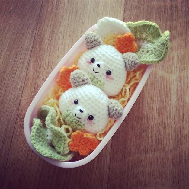 Onigiri Couple Amigurumi Free Crochet Pattern : Oooops I kawaiied-it again ! Onigiri Bear free crochet ...