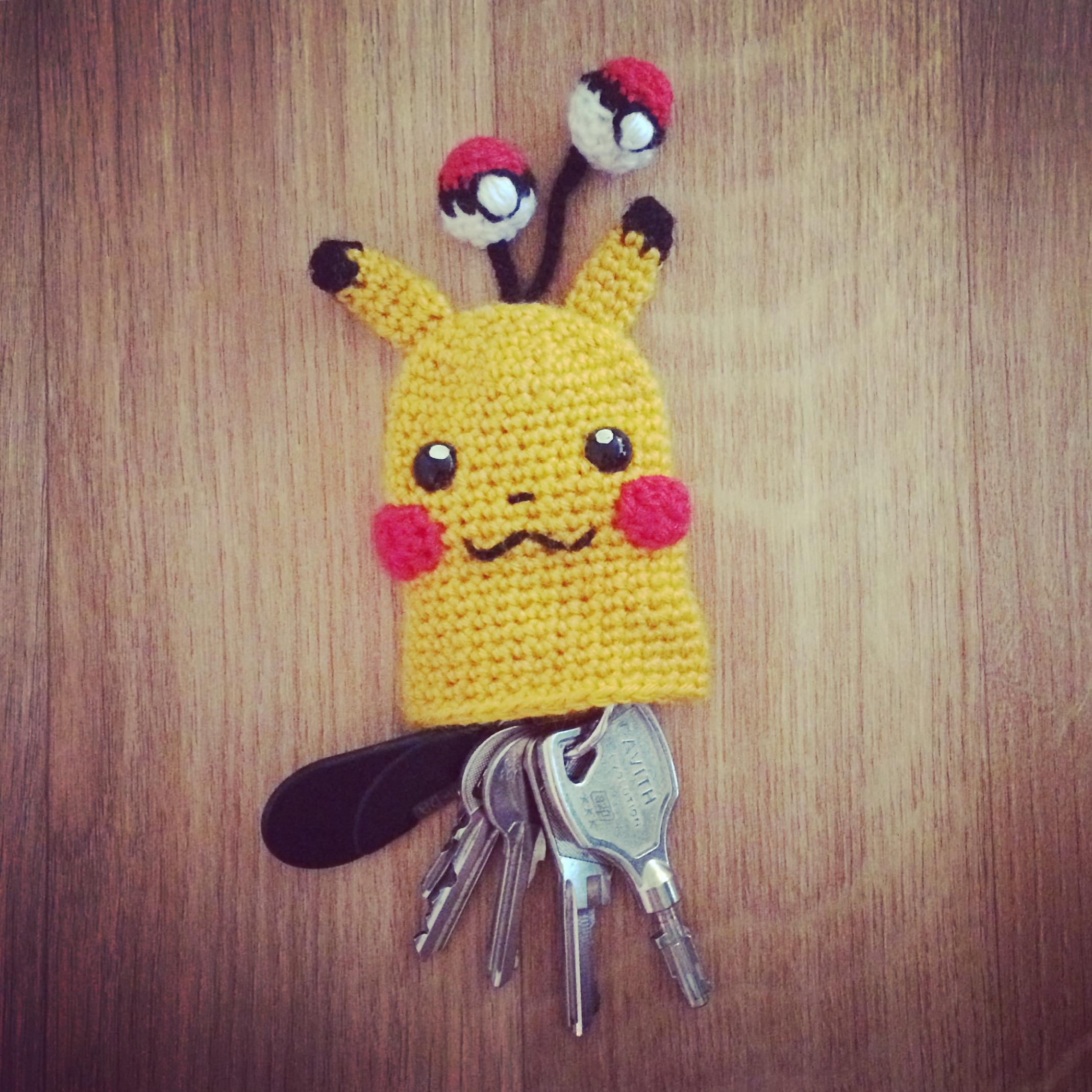 Pikachu Key Cosy Free Crochet Pattern Mylittlecuteamis Amigurumi