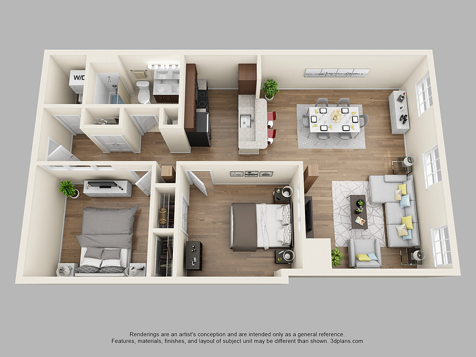 2 Bedroom 1 Bath Floor Plans Whitehall Apartments For