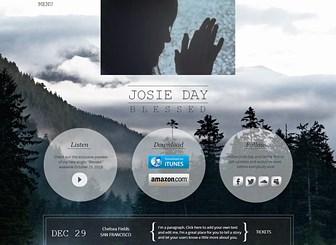 인기 뮤지션의 싱글 발매 Template - 인기 뮤지션의 카리스마가 매력적인 이 템플릿으로 밴드 및 가수, 앨범 홍보를 위한 홈페이지를 제작하세요. 팬들을 위해 내 음악과 동영상을 공유하고, 싱글 음원 판매를 위한 구매버튼도 추가하세요.