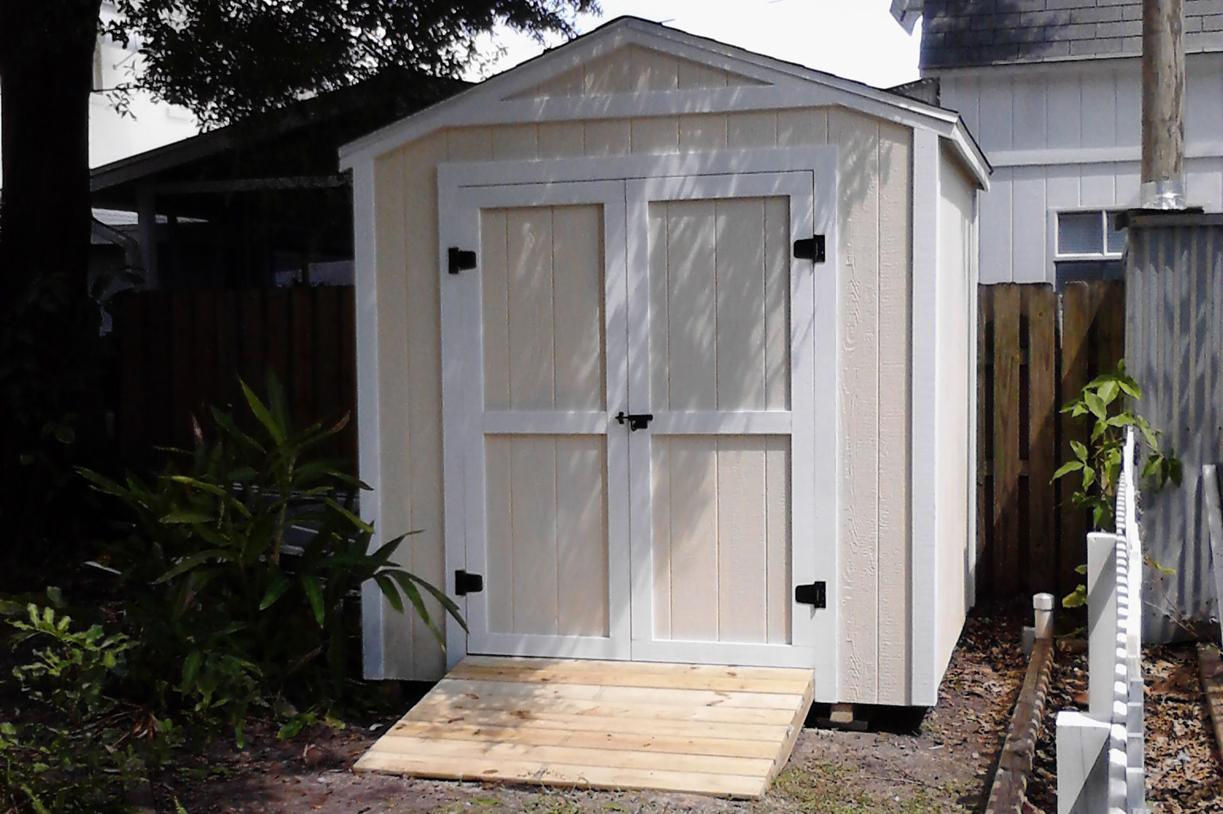 Hurricane proof storage sheds built on site for Garden shed 8x8