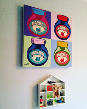 Marmite canvas (Bloomsbury) house shelf H&M