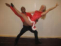 Stine Ortvad med hendes dansepartner