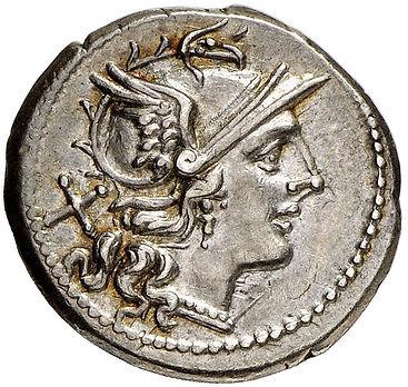 211 B.C. Anonymous Silver Denarius | Roman Republic