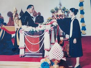 Attorney Chestapanich receiving her law degree from King Bhumibol Adulyadej