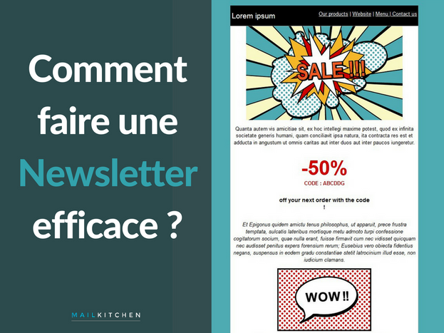 comment faire une newsletter efficace l 39 emailing avec mailkitchen blog. Black Bedroom Furniture Sets. Home Design Ideas