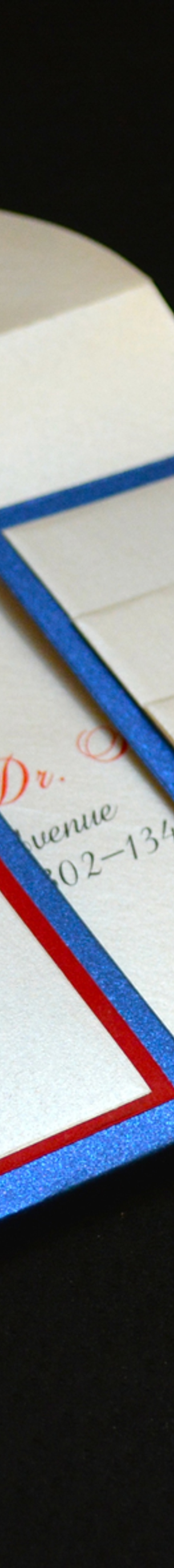 Red, White and Blue invitation suite