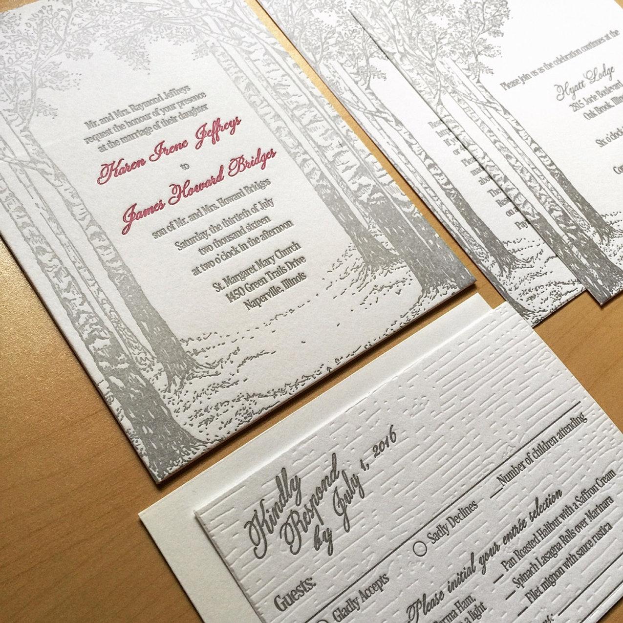 letterpress wedding invitations chicago - 28 images - chicago ...