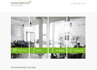 Marketingagentur Template - Ein klares Design, das der Vorlage einen kühlen, modernen Stil verleiht. Präsentieren Sie Ihre Arbeiten in der Collage-Galerie und fügen Sie Text hinzu, um Ihre Dienstleistungen zu beschreiben. Erstellen Sie eine Website, die zu Ihrer kreativen Vision passt!