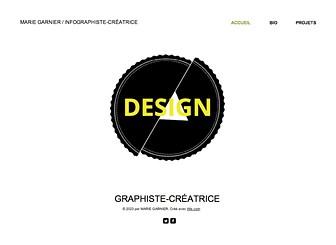 Designer Graphiste Template - Un template de site web minimaliste qui laissera vos travaux créatifs parler d'eux-mêmes. Partagez votre biographie et personnalisez la galerie photo pour exposer votre travail. Commencez à le modifier dès aujourd'hui et créez un portfolio en ligne éblouissant !