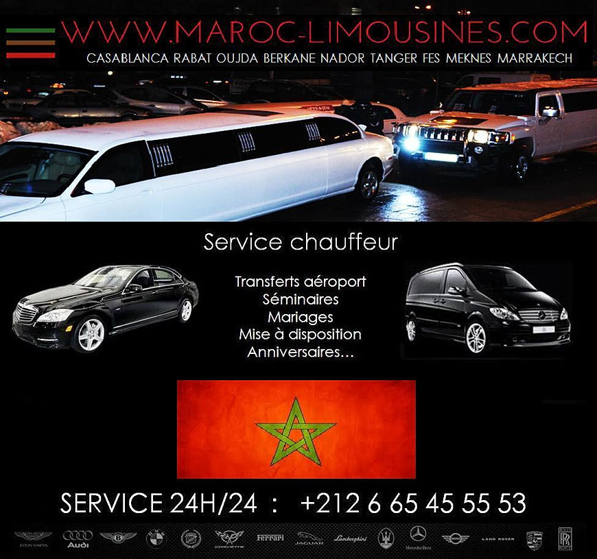 location limousine au maroc. Black Bedroom Furniture Sets. Home Design Ideas
