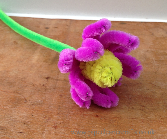 Pipe cleaner crafts flowers images for Pipe craft