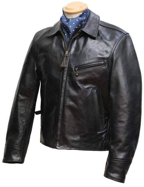 Half leather jacket
