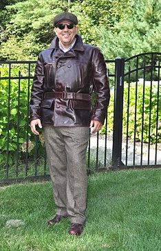 Leather jacket 1960s cafe racer jacket vintage leather jacket