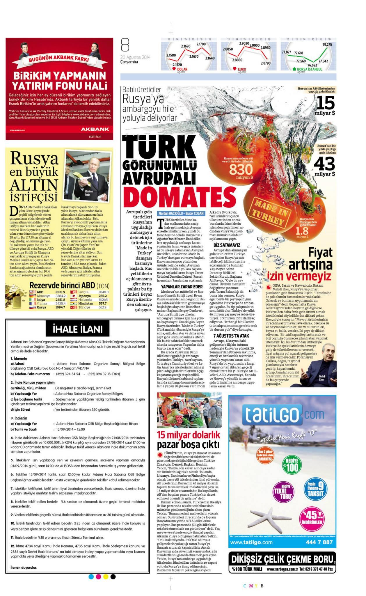 Yayınlanmış Ulusal gazete tasarımlarım