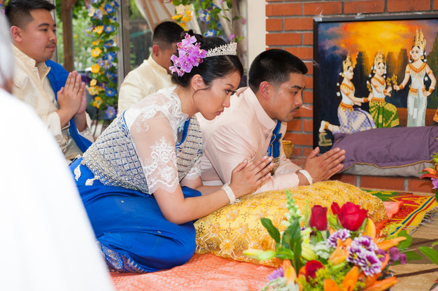 Traditional khmer wedding
